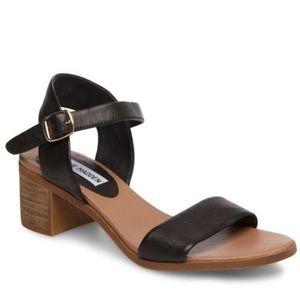 Steve Madden APRIL black leather sandals